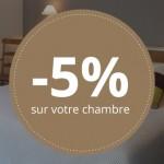 -5% sur votre chambre